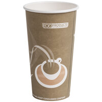 Eco Products EP-BRHC20-EW Evolution World PCF 20 oz. Paper Hot Cup - 50 / Pack