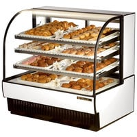True TCGD-50 50 inch White Dry Bakery Display Case - 23.8 Cu. Ft.