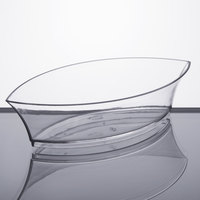 Fineline Tiny Temptations 6207-CL 4 1/2 inch x 2 1/2 inch Tiny Treasures Disposable Clear Plastic Tray   - 200/Case
