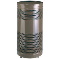 Rubbermaid S3ET Hammertone Bronze Perforated Steel Waste Receptacle - 25 Gallon (FGS3ETHBZPL)