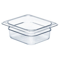 Cambro 62CW135 Camwear 1/6 Size 2 1/2 inch Deep Clear Food Pan