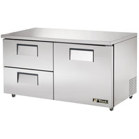 True TUC-60D-2-ADA 60 inch Deep ADA Compliant Undercounter Refrigerator with One Door and Two Drawers