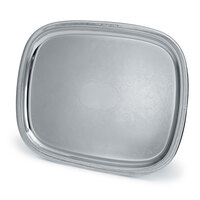 Vollrath 82371 Elegant Reflections 23 1/2 inch x 18 1/8 inch Silver Plated Stainless Steel Oblong Catering Tray