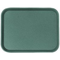 Cambro 1216FF119 12 inch x 16 inch Sherwood Green Customizable Fast Food Tray   - 24/Case