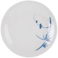 Blue Bamboo 6 3/8 inch Round Melamine Plate - 12/Pack