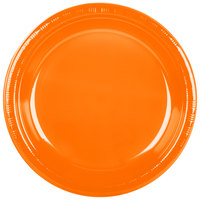 Creative Converting 28191031 10 inch Sunkissed Orange Plastic Plate - 20/Pack