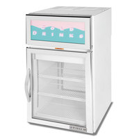 Beverage-Air CRD5-1W-G White Pass-Through Countertop Display Refrigerator with 2 Swing Doors - 5.5 cu. ft.