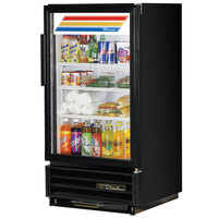 True GDM-8-LD Black Countertop Glass Door Refrigerator - 8 Cu. Ft.