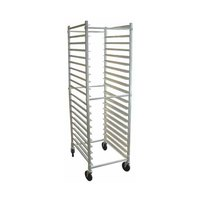 Win-Holt ADE1812B/KDA 12 Pan End Load Aluminum Bun / Sheet Pan Rack - Unassembled