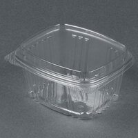 Genpak AD16F 5 3/8 inch x 4 1/2 inch x 3 inch 16 oz. Clear Hinged Deli Container with High Dome Lid - 100 / Pack