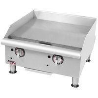 APW Wyott GGT-24i Thermostatic 24 inch Countertop Griddle - 50,000 BTU