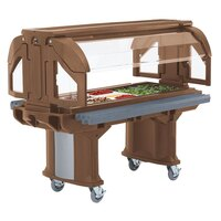 Cambro VBRL5146 Bronze 5' Versa Food / Salad Bar with Standard Casters - Low Height