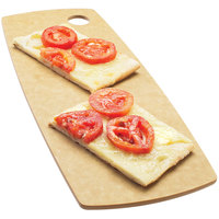 Cal-Mil 1531-612-14 Natural Wooden Round Edge Rectangular Flat Bread Serving Board - 12 inch x 6 inch x 1/4 inch