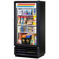 True GDM-10SSL-LD Black Slim Line Swing Door Refrigerated Glass Door Merchandiser - 6.7 Cu. Ft.