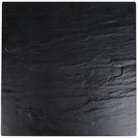 American Metalcraft FSLT14 Melamine Faux Slate 14 1/2 inch x 14 1/2 inch Square Platter