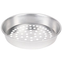 American Metalcraft A90081.5SP 8 inch x 1 1/2 inch Super Perforated Standard Weight Aluminum Tapered / Nesting Pizza Pan