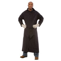 Black 2 Piece Rain Coat 49 inch - XXL