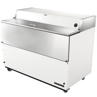 True TMC-58-SS 58 inch White One Sided Milk Cooler with Stainless Steel Interior