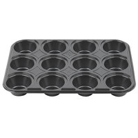 Genpak 55312 Bake N' Show Dual Ovenable 12 Cup Mini Muffin Pan - 500/Case