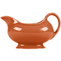 Homer Laughlin 486334 Fiesta Paprika 18.5 oz. Sauce Boat - 4/Case