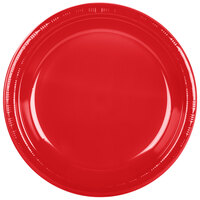 Creative Converting 28103131B 10 inch Classic Red Plastic Banquet Plate - 600 / Case