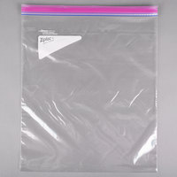 Diversey Ziploc 94603 13 inch x 15 inch Two Gallon Storage Bag with Double Zipper and Write-On Label   - 100/Case