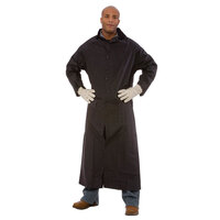 Black 2 Piece Rain Coat 49 inch - Medium