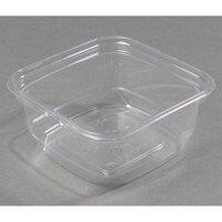 D&W Fine Pack SQ12WN 12 oz. Square PLA Biodegradable / Compostable Plastic Clear Corn Deli Container 500/Case