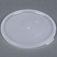 Cambro CCPL27148 Replacement White 1.5 and 2.7 Qt. Round Clear Crock Lid 12 / Case