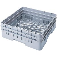 Cambro BR578151 Soft Gray Camrack Full Size Open Base Rack with 2 Extenders