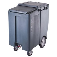 Cambro ICS200TB401 Slate Blue Sliding Lid Portable Ice Bin - 200 lb. Capacity Tall Model