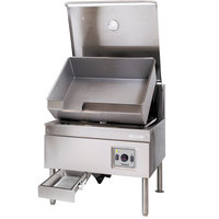 Cleveland SGL-40-TR Natural Gas 40 Gallon DuraPan Open Base Tilt Skillet - 130,000 BTU