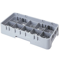 Cambro 10HS434151 Soft Gray Camrack 10 Compartment 5 1/4 inch Half Size Glass Rack