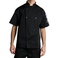 Chef Revival J005BK-4X Knife and Steel Size 60 (4X) Customizable Short Sleeve Chef Jacket