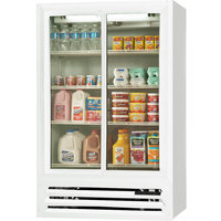 Beverage Air LV15-1-W-LED White Lumavue Refrigerated Sliding Glass Door Merchandiser - 15 Cu. Ft.