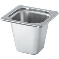 Vollrath 8266205 Miramar 1/6 Size Satin-Finished Stainless Steel Steam Table Food Pan - 6 inch Deep