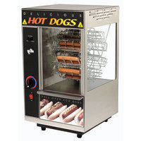 Star 175CBA Broil-O-Dog Hot Dog Broiler with Bun Warmer - Cradle Wheel