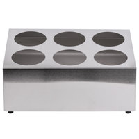 Six Hole Stainless Steel Flatware Cylinder Holder