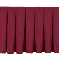 National Public Seating SB8 Burgundy Box Stage Skirt for 8 inch Stage