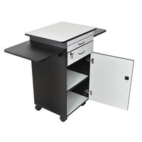 Luxor WPSDD3 Mobile Multimedia Workstation Stand with Locking Cabinet