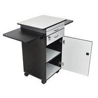 Luxor / H. Wilson WPSDD3 Mobile Multimedia Workstation Stand with Locking Cabinet