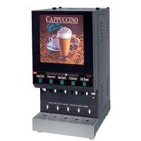 Cecilware GB5M210-LD-U Feature Flavor Series Five Hopper Powdered Cappuccino Dispenser with Illuminated Vertical Lift Front - 120V