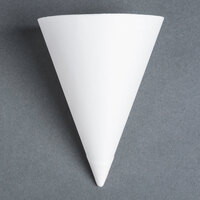 Dart Solo 156-2050 Bare Eco-Forward 7 oz. White Straight Edge Paper Cone Cup with Chipboard Box Packaging - 5000 / Case