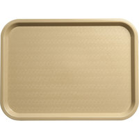Carlisle CT121606 Customizable Cafe 12 inch x 16 inch Beige Standard Plastic Fast Food Tray - 24/Case
