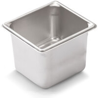 Vollrath 30662 Super Pan V 1/6 Size Anti-Jam Stainless Steel Steam Table / Hotel Pan - 6 inch Deep