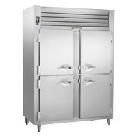 Traulsen RLT232NUT-HHS Stainless Steel 46 Cu. Ft. Two-Section Solid Half Door Narrow Reach-In Freezer - Specification Line