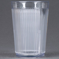 Carlisle 400807 Clear Crystalon SAN Tumbler 8 oz. - 12/Case