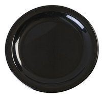 Carlisle KL20403 Kingline 6 1/2 inch Black Pie Plate - 48/Case