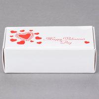 5 1/2 inch x 2 3/4 inch x 1 3/4 inch 1-Piece 1/2 lb. Valentine's Day Candy Box - 250/Case