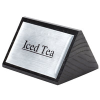 American Metalcraft SIGNIT2 Black Wood Iced Tea Sign